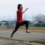 山崎の走幅跳