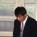 現陸上競技部顧問の川田雅之先生