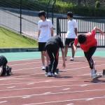 100mのスタート練習