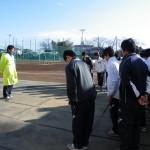 練習開始前に川田先生への挨拶