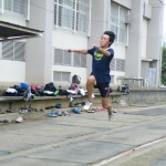 三段跳の練習 星野樹生