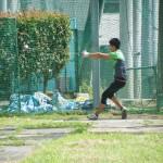 投擲の投げ練習   岡野敬史
