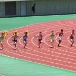 100mオープン 河戸(左) 阿佐美(中)  山本(右)