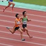 100m予選 山本