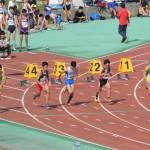 100m 福富(左) 小峰(右)