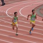 100m 髙橋(右) 竹花(左)