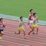 100mオープン 野口(右) 竹花(左)