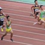 100mオープン 河戸(左) 山田健太(右)