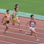 B100m予選 神谷