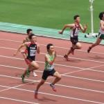 B100m準決勝 山田