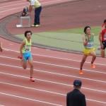 100m 神谷(右) 阿左美(左)