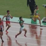 100m予選 竹花