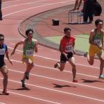 100m 山田翔冴(右) 竹花(左)