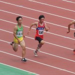 B100m準決勝 山本