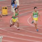 100m 阿佐美(右) 河戸(左)