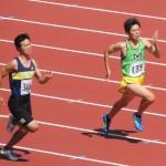 100m予選 阿佐美