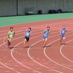 200m決勝 相沢(右) 金子(左)