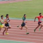 八種競技 100m 岸