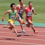 100m予選 相沢