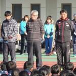 指導者右より川田先生 清水先生 出浦教行さん