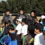 小学生を指導して頂いた出浦さん(左)・中島さん(中)・藤野さん(右)