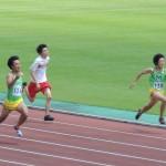 100mオープン 田中(左) 竹花(右)