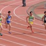 100m 金井(右) 阿佐美(左)