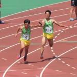 4×100mR予選 3走金子から4走伊藤へバトンパス