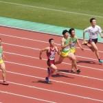 100mオープン 河戸(左) 金子(中) 山本(右)