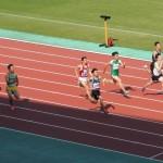 100m決勝 戸澤(左) 金井(右)