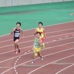 400m予選 三上