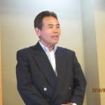 懇親会にて岩崎会長のご挨拶